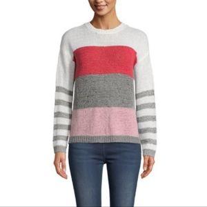 BB Dakota Tickled Pink Tape Yarn  Sweater S NWT